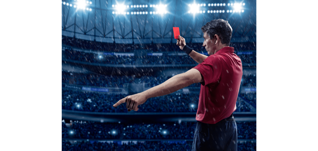 how do referees communicate in football - yellow and red cards