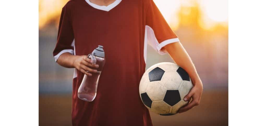 best football water bottles - large volume