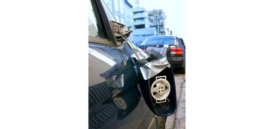 soccer ball car damage - wing mirrors