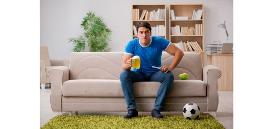 black and white soccer balls - easier television viewing