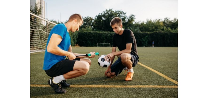 why soccer balls are hard - air molecules